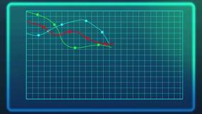 Linea animata declino di rappresentazione del grafico degli indici finanziari durante la crisi finanziaria royalty illustrazione gratis