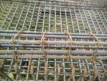 Linea arrugginita struttura del ferro per costruzione Fotografia Stock
