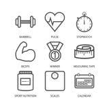 Linea Art Fitness And Sport Fotografie Stock