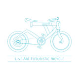 Linea Art Futuristic Bicycle Illustrazione Vettoriale