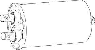 Linea Art Sketch del condensatore Fotografia Stock