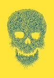 Linea Art Skull Illustration Immagini Stock