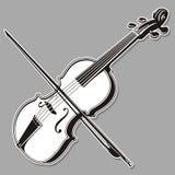 Linea arte del violino Immagini Stock Libere da Diritti