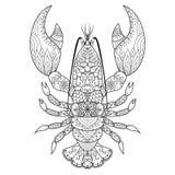 Linea arte dell'aragosta illustrazione di stock