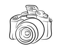 Linea arte della macchina fotografica di DSLR Immagine Stock
