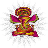 Linea arte di ganesha di signore per la cartolina d'auguri royalty illustrazione gratis