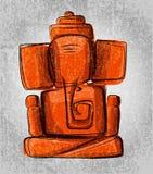 Linea arte di ganesha di signore per la cartolina d'auguri illustrazione vettoriale