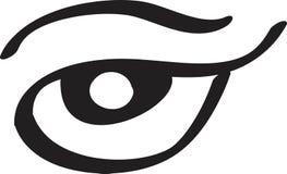 Linea arte piana dell'icona dell'occhio di signora Illustrazione di vettore per progettazione dei cataloghi di bellezza, bigliett royalty illustrazione gratis