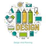 Linea arte - progettazione e pianificazione Fotografia Stock
