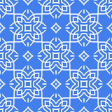 Linea arte senza cuciture araba del modello illustrazione di stock
