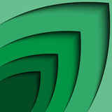 Linea astratta fondo dell'onda della freccia di verde 3d dell'estratto del certificato Fotografia Stock Libera da Diritti