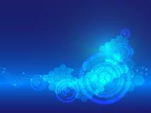 Linea astratta fondo di tecnologia di vettore di curvatura royalty illustrazione gratis