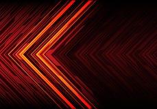 Linea astratta freccia del nero della luce arancio sul vettore moderno del fondo di tecnologia del poligono di progettazione futu royalty illustrazione gratis