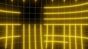 Linea astratta giallo del CICLO del fondo di moto video d archivio