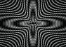 Linea astratta modello del cerchio di illusione di struttura del fondo del nero Immagine Stock Libera da Diritti