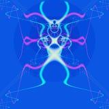 Linea astratta psichedelica del fondo e forme, straniero Fotografia Stock Libera da Diritti