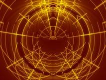Linea astratta rossa dell'oro e del fondo Immagini Stock
