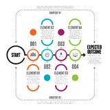 Linea audace catena Infographic del cerchio Fotografia Stock Libera da Diritti
