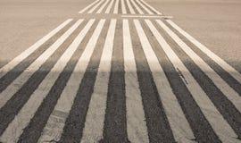 Linea bianca della strada Fotografia Stock Libera da Diritti