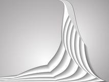 Linea bianca fondo della curva illustrazione di stock