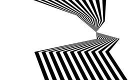 Linea in bianco e nero arte ottica grafica della banda dell'estratto royalty illustrazione gratis