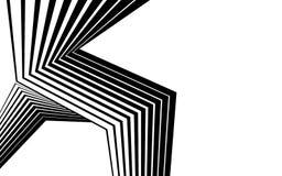 Linea in bianco e nero arte ottica grafica della banda dell'estratto illustrazione di stock