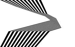 Linea in bianco e nero arte ottica grafica della banda dell'estratto illustrazione vettoriale