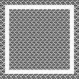 Linea in bianco e nero astratta fondo del triangolo del modello illustrazione vettoriale