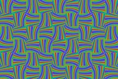 Linea Blocky struttura multicolore luminosa orizzontale verticale blu viola dell'arcobaleno del modello di verde del fondo royalty illustrazione gratis