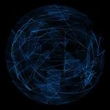 Linea blu astratta di incandescenza del globo Fotografia Stock Libera da Diritti