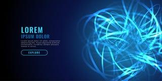 Linea blu astratta fondo di caos di tecnologia del diagramma illustrazione vettoriale