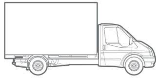 Linea camion dell'annuncio pubblicitario Fotografia Stock Libera da Diritti