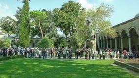 Linea che aspetta, Costantinopoli del palazzo di Topkapi Fotografie Stock Libere da Diritti
