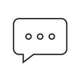 Linea chiacchierata dell'icona Immagine Stock Libera da Diritti