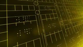 Linea CICLO del fondo 4K di tecnologia della luce del cerchio illustrazione di stock