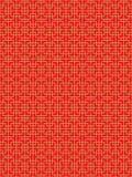 Linea cinese senza cuciture dorata fondo del quadrato della geometria della grata dei trafori della finestra del modello Fotografie Stock