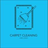 Linea concetto di pulizia del tappeto Immagini Stock