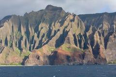 Linea costiera 2 del Na Pali del Kauai Fotografie Stock Libere da Diritti
