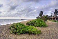 Linea costiera all'Oceano Indiano, Sri Lanka Fotografia Stock Libera da Diritti