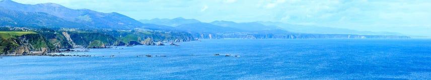 Linea costiera Asturie, Spagna di Vidio del capo Fotografia Stock Libera da Diritti