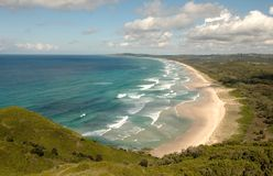 Linea costiera Australia della baia di Byron Fotografia Stock