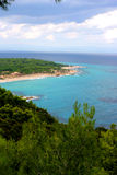 Linea costiera bella in Grecia Fotografia Stock Libera da Diritti