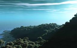Linea costiera boscosa Fotografia Stock Libera da Diritti