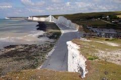 Linea costiera britannica fotografia stock libera da diritti
