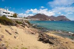 Linea costiera a Cabo de Gata National Park, Andalusia, Spagna Fotografia Stock Libera da Diritti