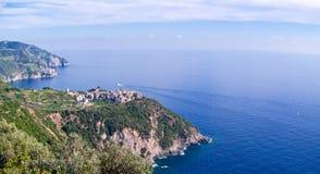 Linea costiera Cinque Terre Italia Fotografia Stock Libera da Diritti