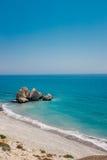 Linea costiera Cipro Fotografia Stock Libera da Diritti
