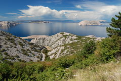 Linea costiera croata Fotografie Stock Libere da Diritti