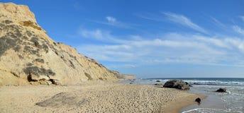 Linea costiera a Crystal Cove State Park, California del sud immagini stock libere da diritti