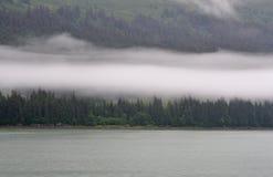Linea costiera d'Alasca Immagine Stock